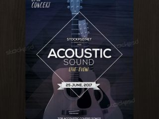 Acoustic Sound – Free PSD Flyer Template