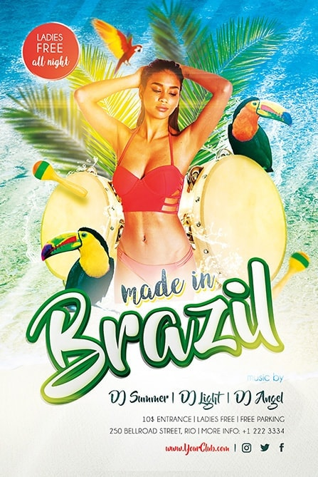 made in brazil free psd flyer template - Free Psd Flyer Templates