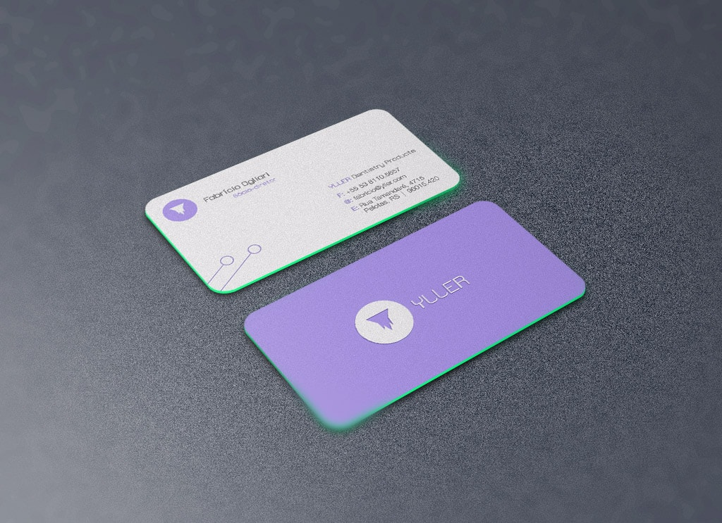 Free Rounded Corners Front Back Business Card Mockup Psd