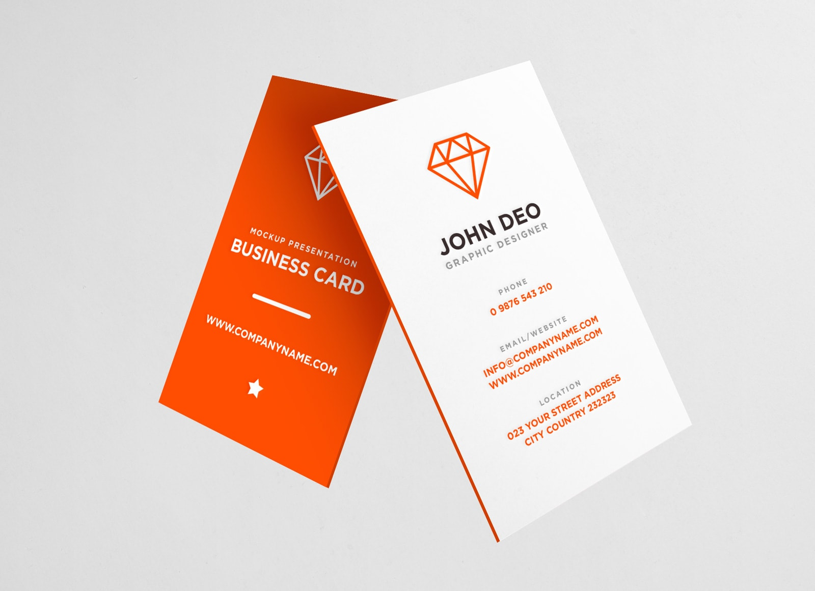 free vertical business card mockup psd - Business Card Mockup Psd