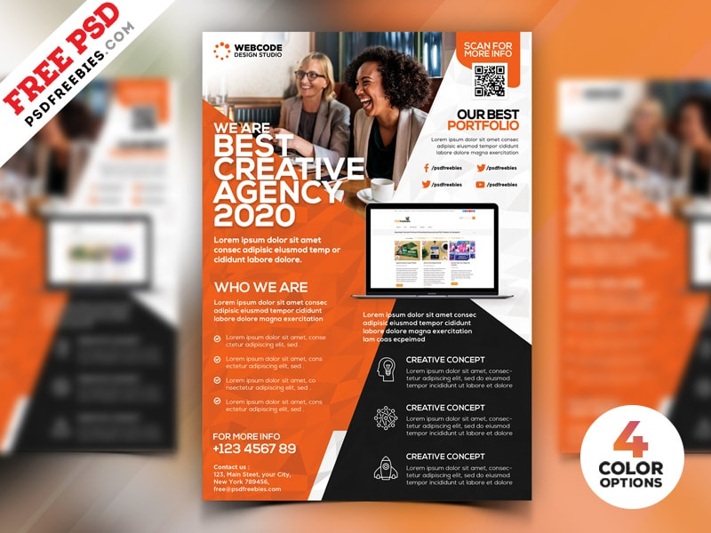 Free modern corporate flyer template psd bundle freebiedesign free modern corporate flyer template psd bundle wajeb Image collections