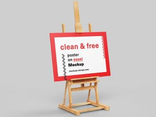 Poster on Easel Mockup – Freebie PSD Template