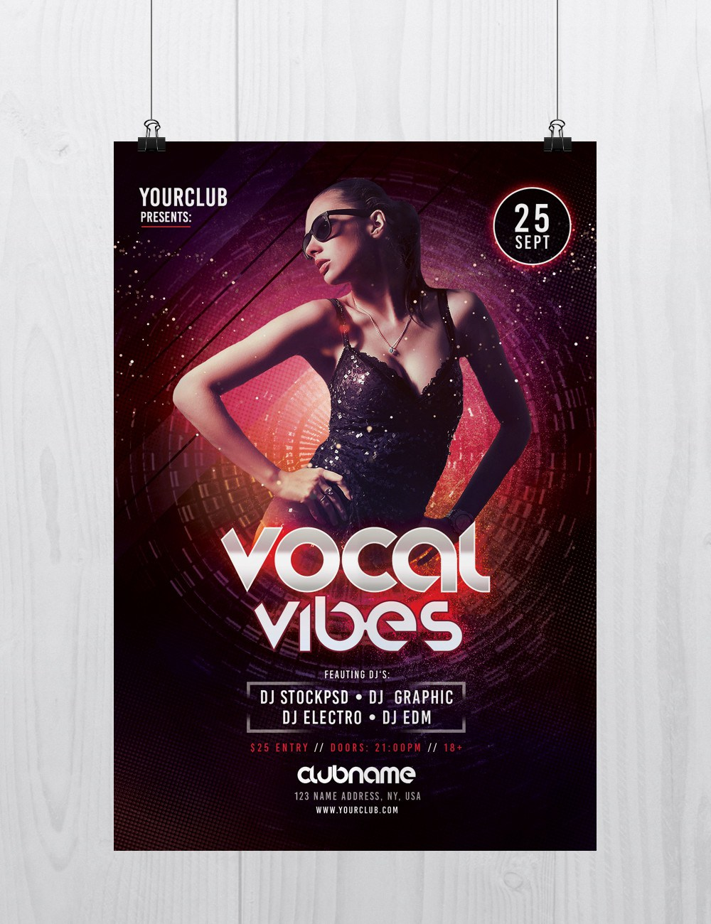 Vocal Vibes Free Psd Flyer Template Freebiedesign