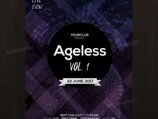 Ageless – Free Event PSD Flyer Template