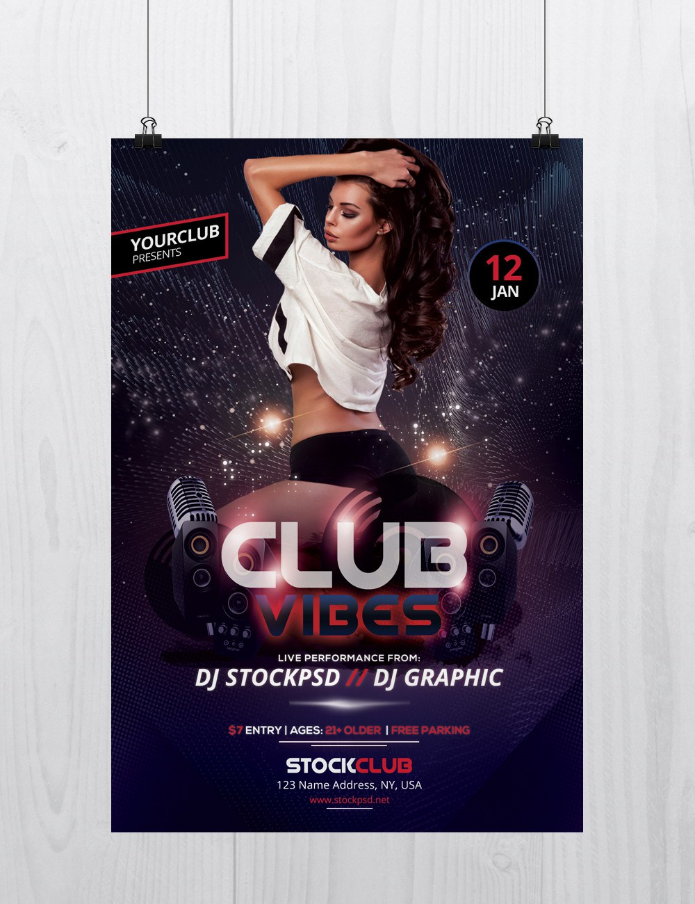 club vibes party free psd flyer template freebiedesign net
