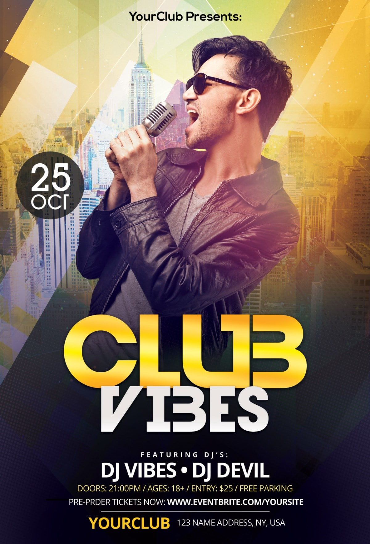 club vibes download free psd photoshop flyer template