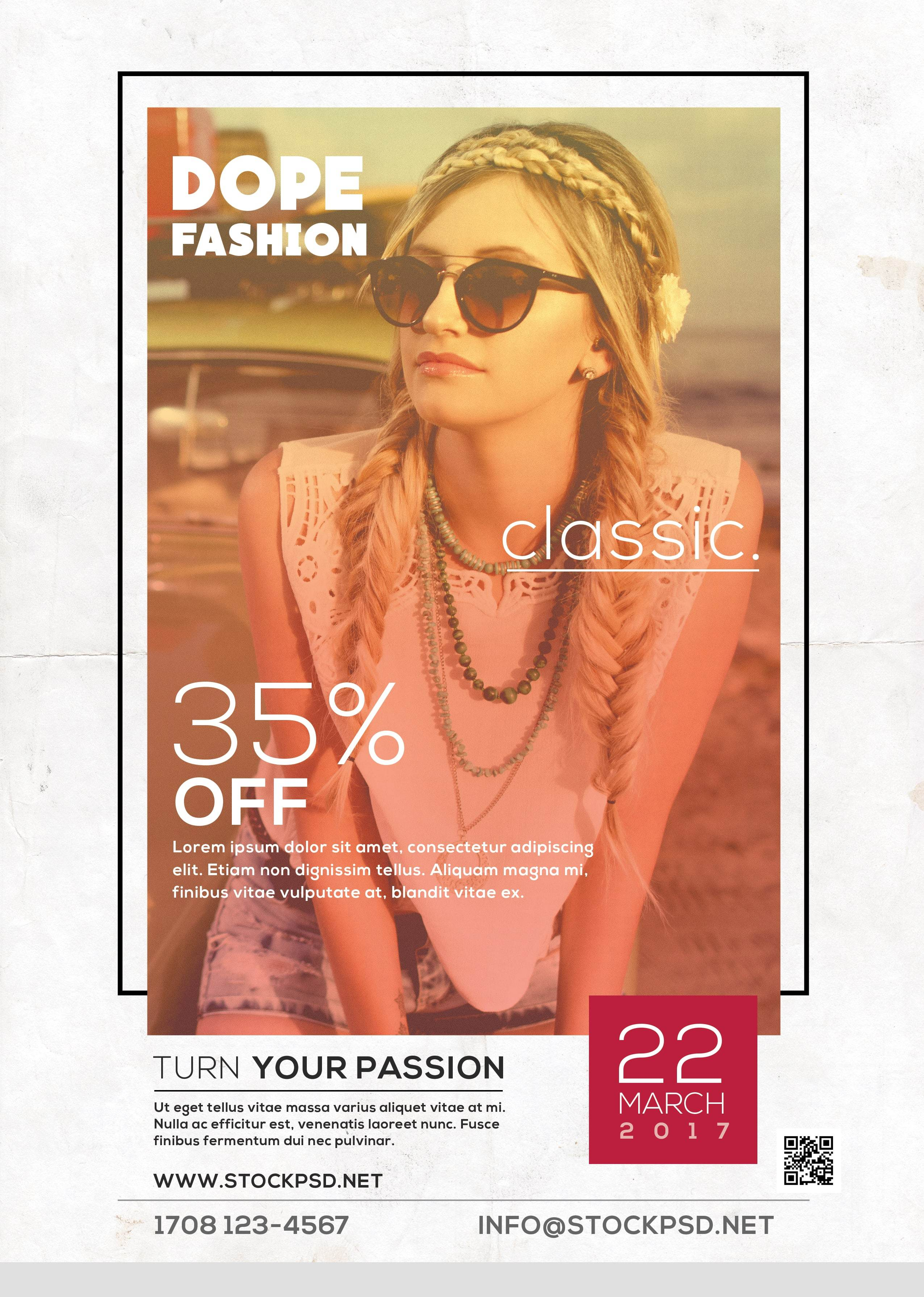 Dope Classic Fashion Free Psd Flyer Template Freebiedesign