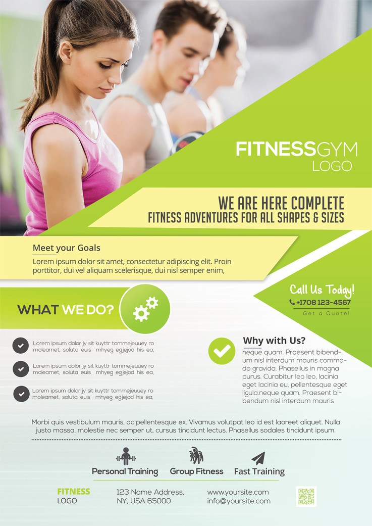 Fitness Services Download Free Psd Flyer Template Freebiedesign
