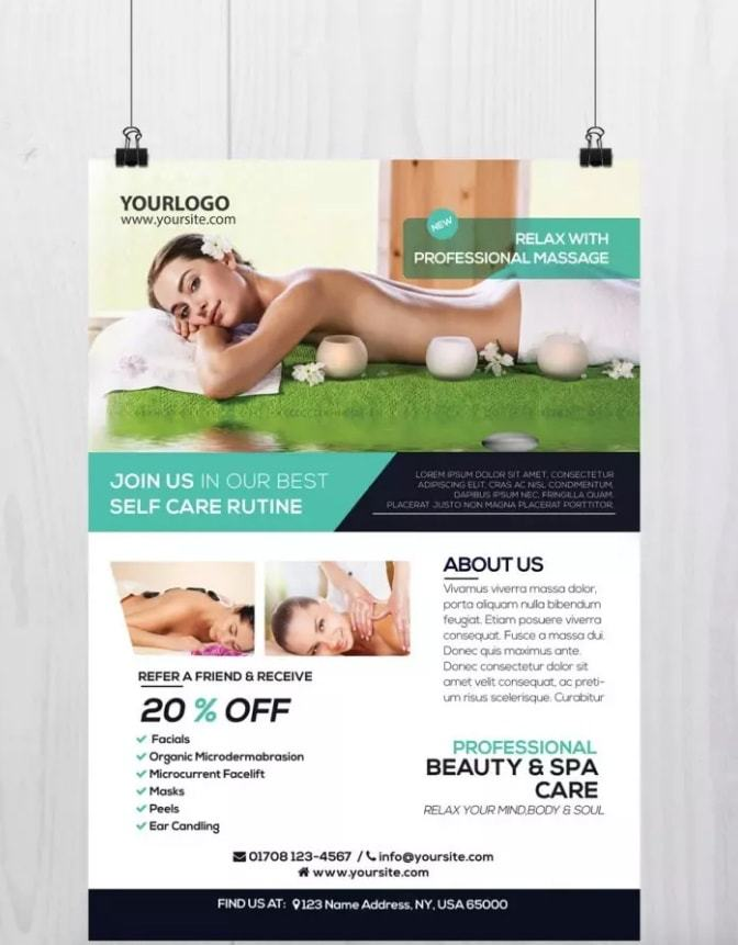 Massage And Health Download Free Psd Flyer Template