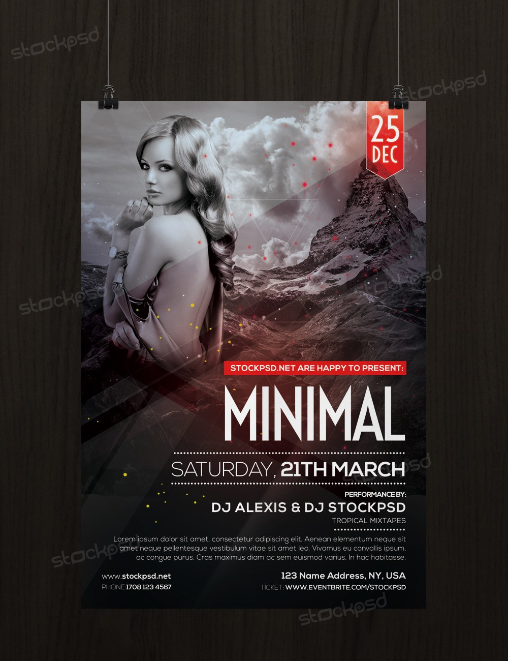 Minimal Download Free Psd Flyer Template Freebiedesign