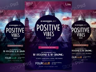 Positive Vibes – Free PSD Flyer Template