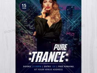 Pure Trance – Download Free Flyer Templete