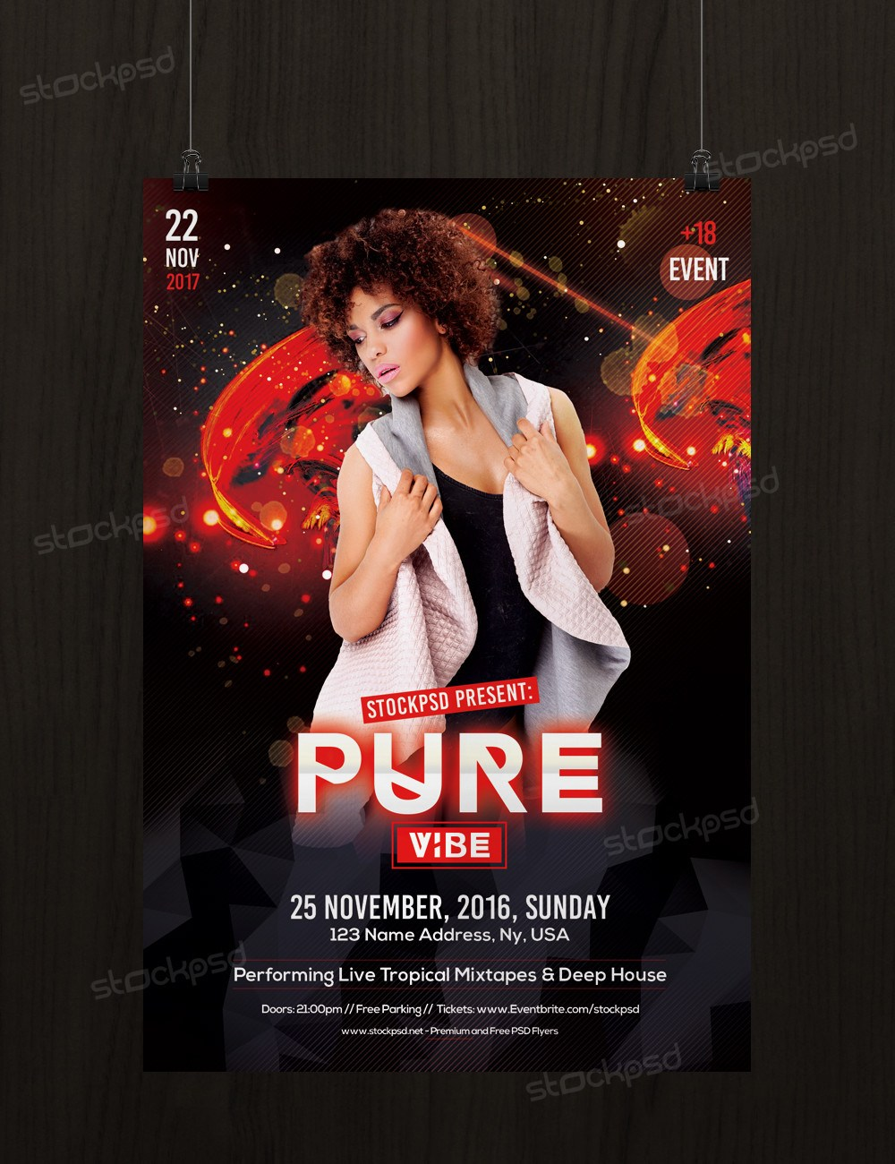 Pure Vibe Download Free Psd Flyer Template Freebiedesign Net