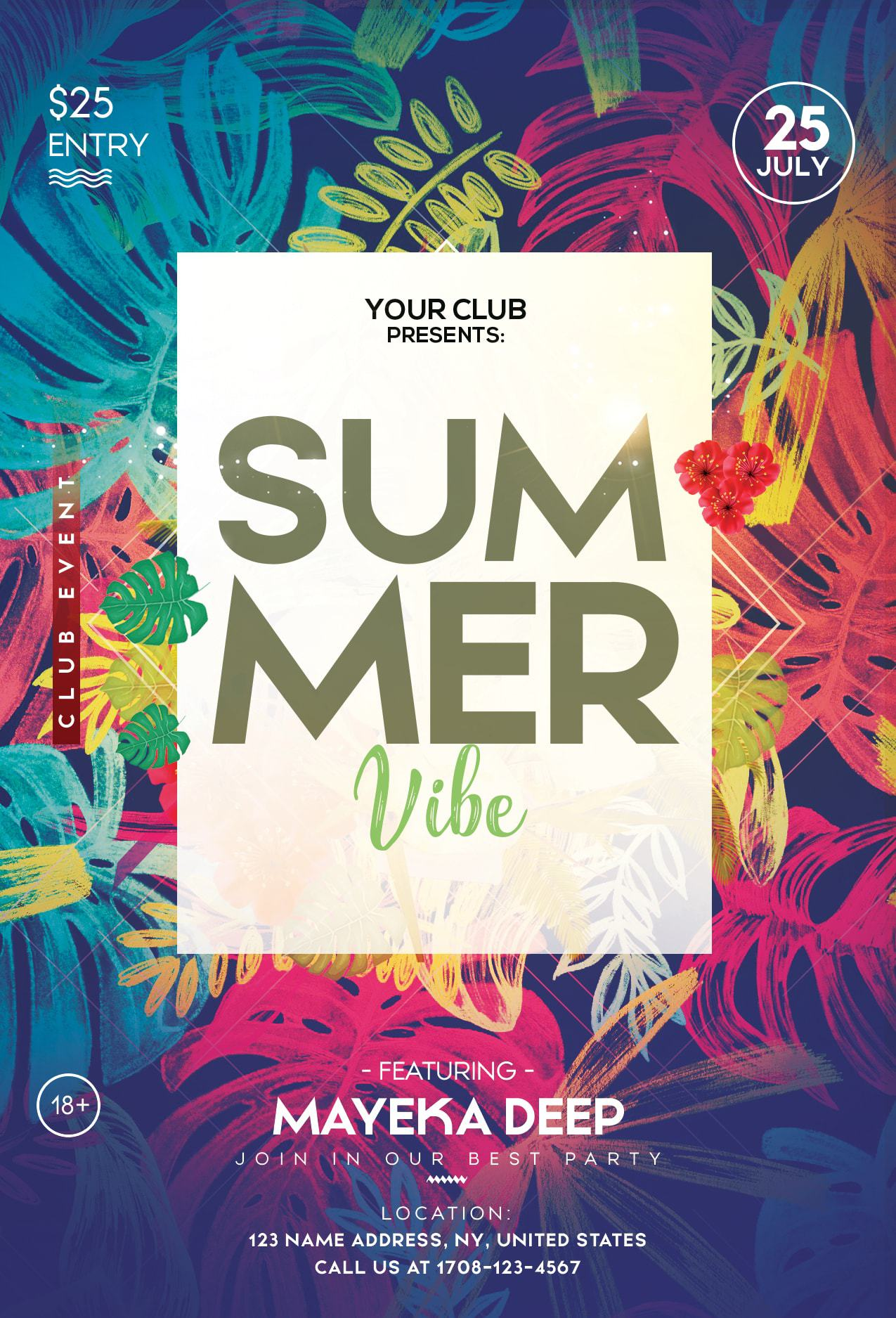 Tropical summer free psd flyer template freebiedesign tropical summer free psd flyer template maxwellsz