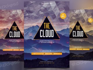 The Cloud – Download Free PSD Flyer Template
