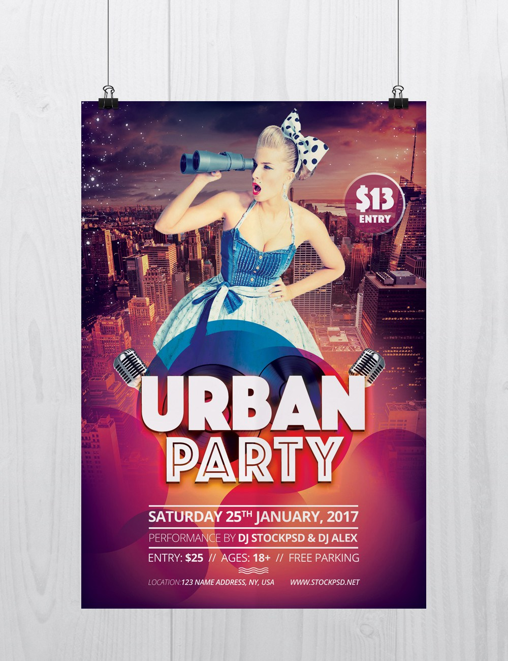 Urban Party Download Free Psd Flyer Template Freebiedesign
