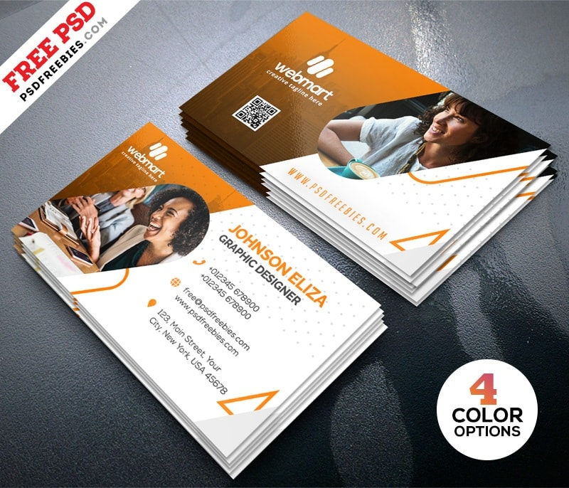 Free modern business card design templates psd freebiedesign cheaphphosting Image collections