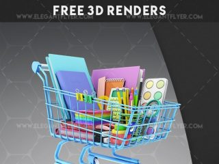 Back to school – Free 3d Render Templates