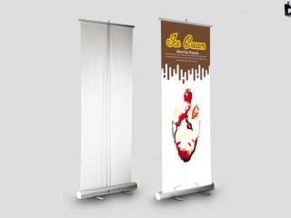 Free Roll up Banners Mockup