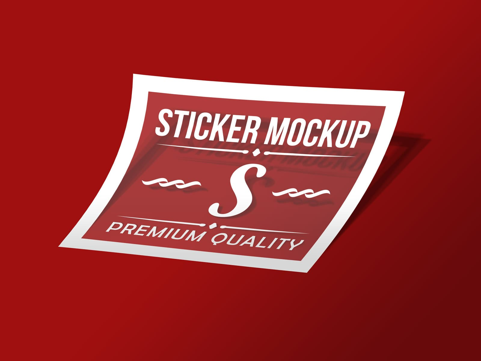 Free photorealistic transparent sticker mockup psd