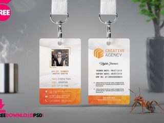 Free Office Identity Card PSD Template