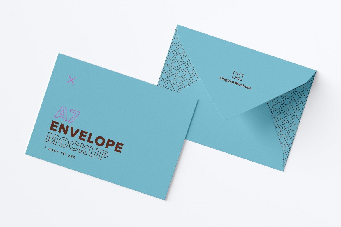free a7 envelope exterior layout mockup freebiedesign net