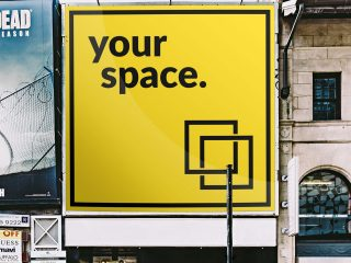 Free Square Outdoor Advertising Mockup