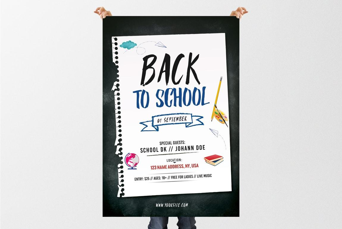 Back To School Free Psd Flyer Template Freebiedesign