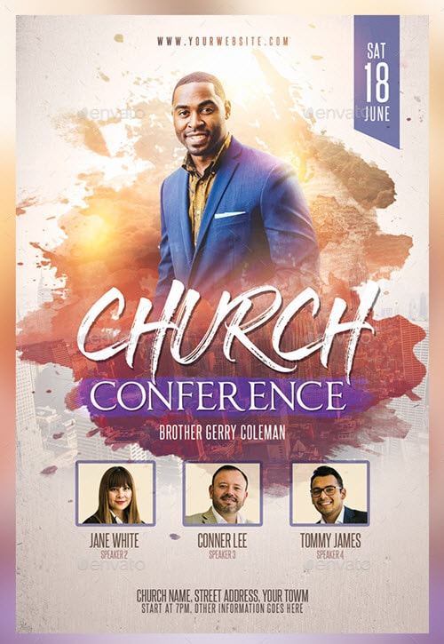 30 premium and free church psd templates for religious events