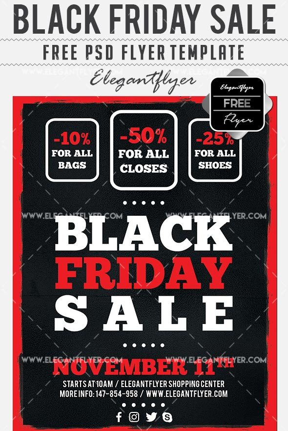 Free Flyer Template For Target Black Friday Sales Freebiedesign