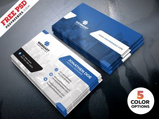 Free Clean Business Card Templates PSD