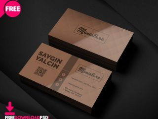 Free Creative Director Business Card PSD Template