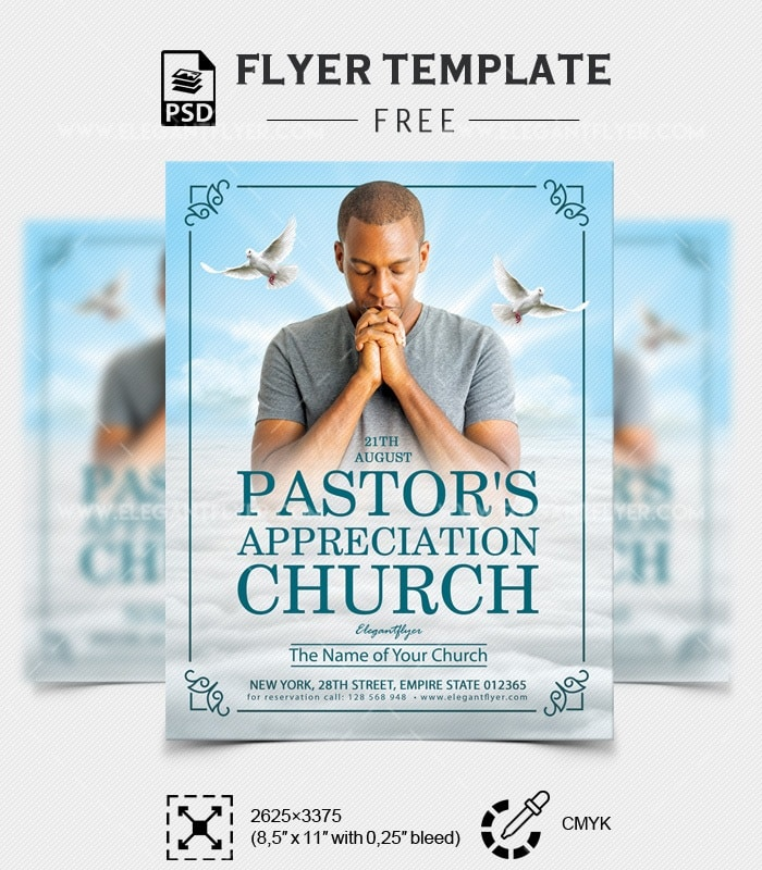 Free Pastor\'s Appreciation Church Flyer | FreebieDesign.net
