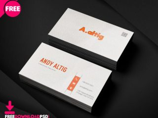 Free Freelance Business Card PSD Template