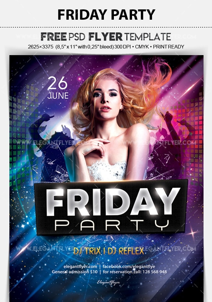 Friday Party Free Flyer Psd Template Freebiedesign