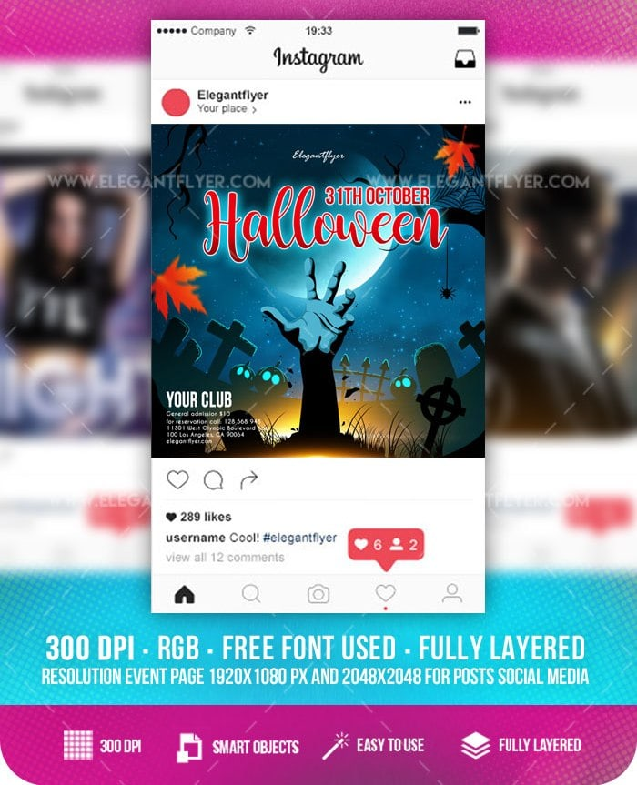 Halloween free facebook event instagram template freebiedesign get this amazing template you can use all of our premium flyer templates psd free event flyer templates many business brochures business cards and fbccfo Image collections