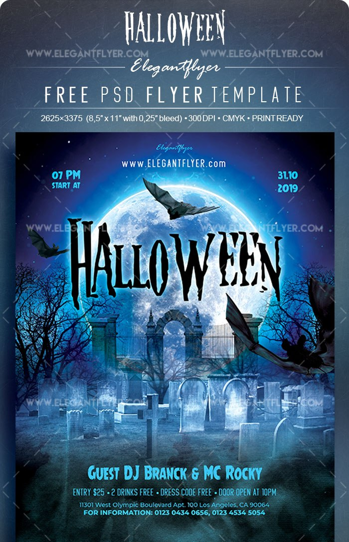 Halloween Free Flyer Psd Template Freebiedesign