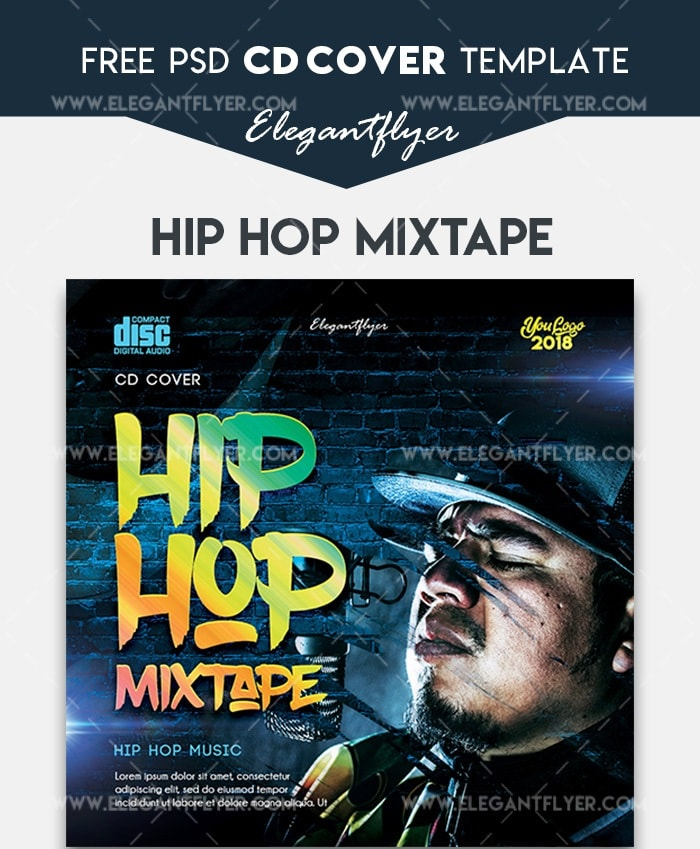 Hip Hop Mixtape Free Cd Cover Template Freebiedesign Net