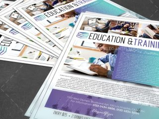 Education & Training – Free Flyer PSD Template