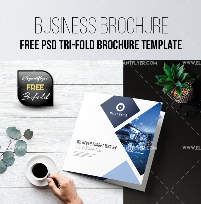 Free business tri fold brochure psd template freebiedesign accmission Image collections