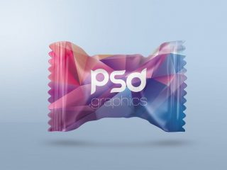 Free Candy Packaging Mockup PSD