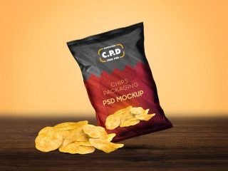 Free Chips Packaging Mockup Psd