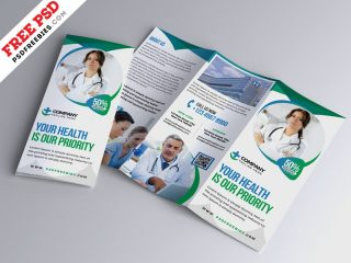 Free Hospital Medical Business Trifold Brochure PSD