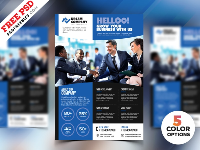 Free Promotional Flyer Templates Free Psd Freebiedesign