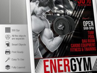 GYM – Free Flyer PSD Template
