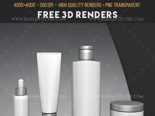 Cosmetic Set Free 3d Render Templates