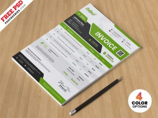 Free A4 Size Business Invoice Template PSD