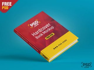 Free Floating Hardcover Book Mockup PSD