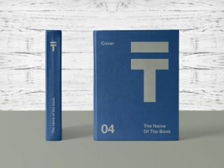Free Hardcover Book Title With Spine Mockup PSD