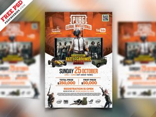 Free PUBG Gaming Event Flyer PSD